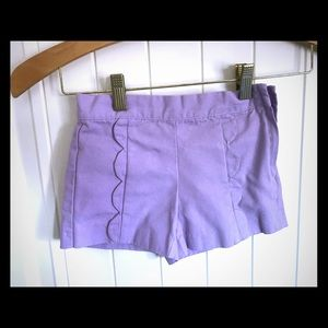 Two pairs of Janie and Jack girls shorts size 6.